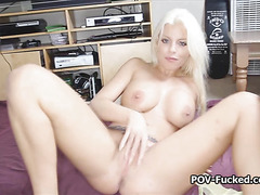 Drilling hot gf with big tits and blue eyes