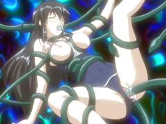 Hentai coed poked hard by brutal tentacles