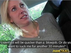 She could not pay the taxi but agreed on sucking the drivers cock!