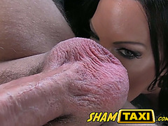 Ball sucking and ass licking wife cheats on her husband