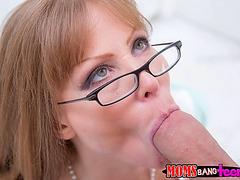 Mandy and her boyfriend teased by stepmom