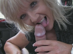 Mature blonde just got brutal