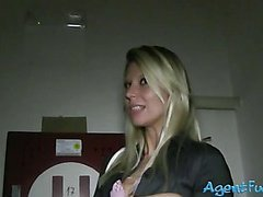 Amateur chick Adrien banged for money