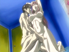 Caught hentai coed fingered and poked hard