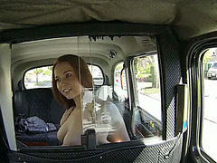 Hot amateur offers blowjob for a taxi ride and gets fucked all the way