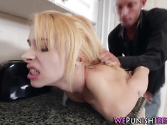 Teen tied up and fucked