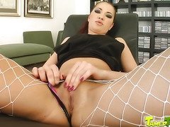 Teen Rose is all squirts during ass fucking