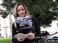 Czech slut Blanka Grain sex in public