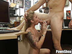 Blonde Amateur Fucked Hard in Pawn Shop And It Is Captured on Hidden Camera in HD