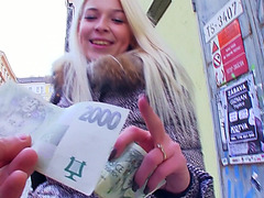 Czech babe Karol pussy fucked for money