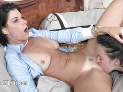 First time chick banging her 50yo mom