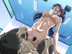 Busty hentai schoolgirl hot riding cock