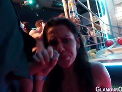 Glam babe swallows jizz