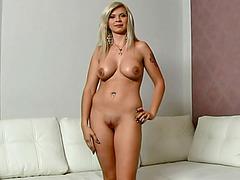 Blonde beauty Barbara fake porn tryout