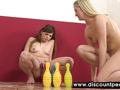 Skittle play for horny lesbians who love pee