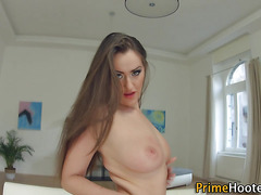 Big tittied babe sucking