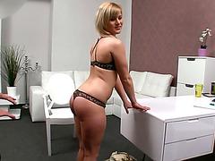 Tempting blonde chick Sylvia nailed deep