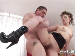 I love penetrate in her bushy ass