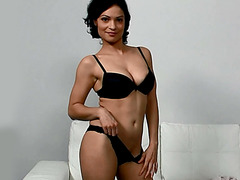 Exotic Sylva enjoys first porn tryout