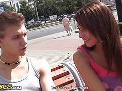 Real outdoor sex with a lovelorn guy scene 2