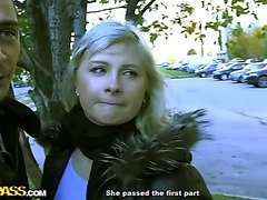 Blonde in crazy public fuck adventure