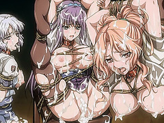Caught and tied up hentai girls