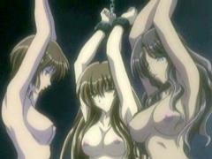Bondage hentai girls gangbanged