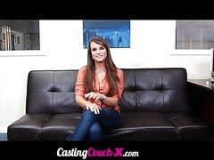 Wild teen beauty thinks that this audition is as easy as her modeling surprise