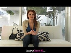 New girl Sage Evans Aims to please for her first time on camera