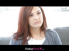 Nikki is nervous and horny her first time on camera