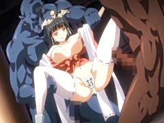 Virgin Japanese hentai Princess brutally DP by monsters