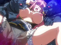 Chained hentai bigtits brutally fucked monsters pig