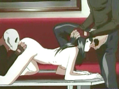 Hentai threesome brutally fucked hard
