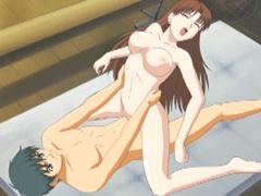 Bigboobs hentai teacher hot fucking with her coed