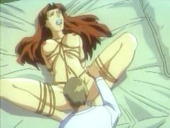 Bondage hentai Japanese dildoing and licking pussy