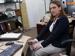 Horny business lady screwed up for cash