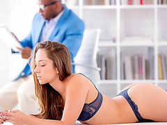 Slender Remy LaCroix both holes nailed