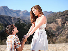 Maddy gets affectionate love making after her boyfriends proposal