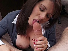 Busty MILF needs cash badly and she gets fucked in exchange of cash
