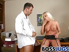 Employee fucks his busty boss Britney Amber