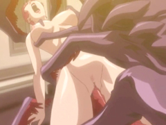 Hentai monster hard fucked a busty anime