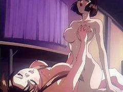 Hentai dickgirl gets head
