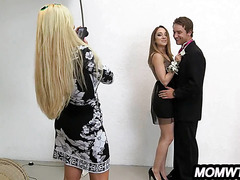 Step-mom and step-daughter Prom Night Threesome Remy LaCroix & Nikki Benz_1.1