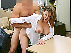 Busty business lady fucked for a ticket