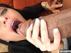 Sexy petite brunette fucking huge black cock 07