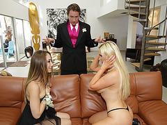 Remy Lacroix sucks bfs cock with Stepmom Nikki