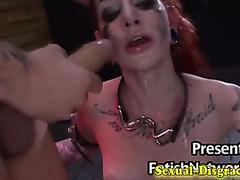 Immobilized slave gets fingered