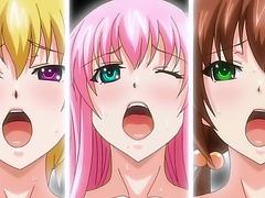 Three horny hentai schoolgirls