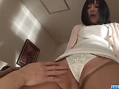 Nozomi Yui gets toys to crack down her pussy and ass