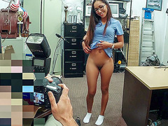 Nurse banged hard by huge cock in pawnshop